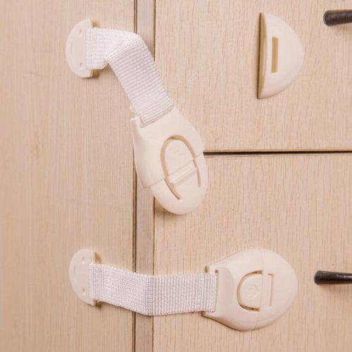 Защитные замки-ремни блокираторы от детей на мебель в наборе 10 шт.