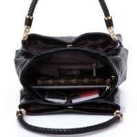 Женская сумка из искусственной кожи с имитацией под кожу аллигатора, с двумя длинными ручками