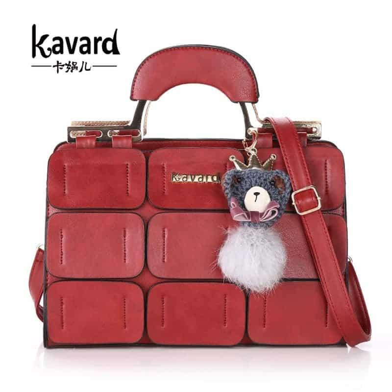 f9428ec4ad51 Женская сумка из искусственной кожи, с короткими ручками и ремешком, в  стиле пэчворк из
