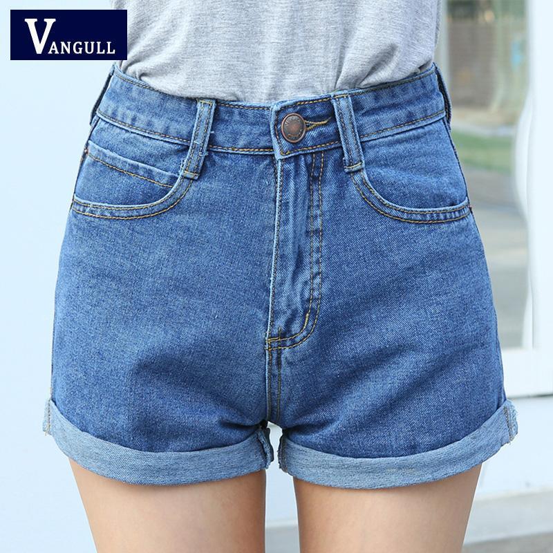 Завышенные шорты джинсовые