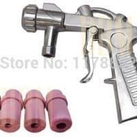 Аппарат пистолет для пескоструйной обработки поверхности стекла, металла и др. от ржавчины, смол, старой краски