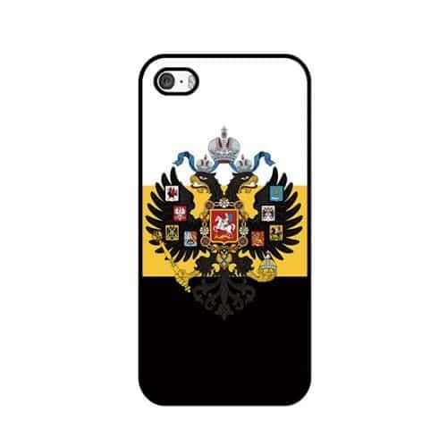 Чехлы для iPhone 4, 5, 6, 7 с флагом и гербом России