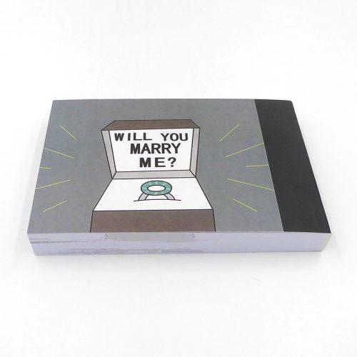 Флипбук книга сюрприз с пустым отсеком в конце для кольца (предложение руки и сердца)