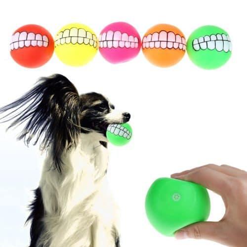 Игрушка мяч с зубами для собаки
