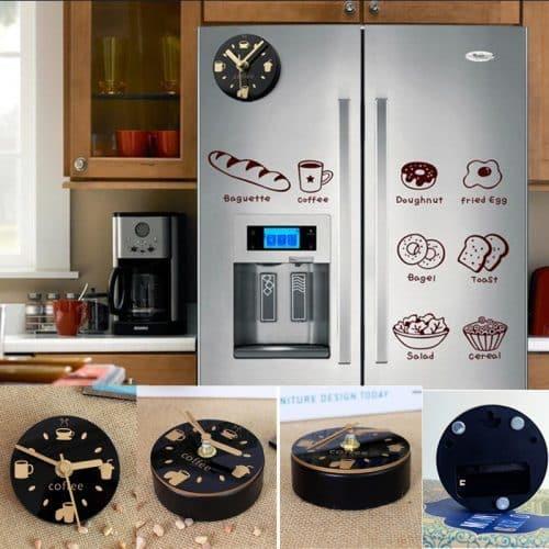 Круглые цифровые часы магнит на холодильник