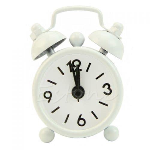 Маленькие настольные мини часы-будильник (высота 6,3 см)