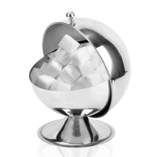 Металлическая сахарница из нержавеющей стали в виде шара-сферы
