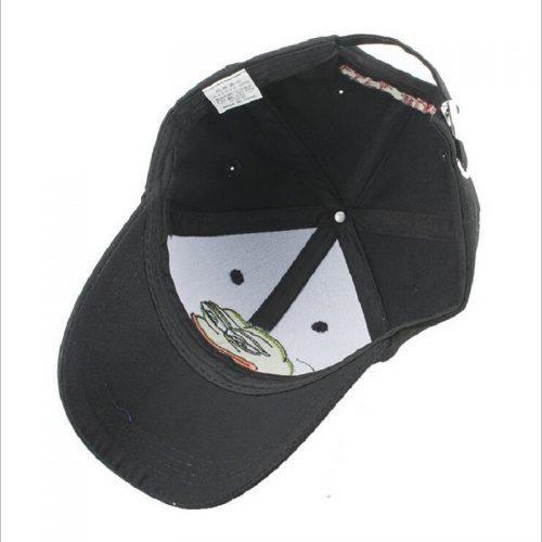 Мужская и женская черная кепка бейсболка с лягушкой Пепе