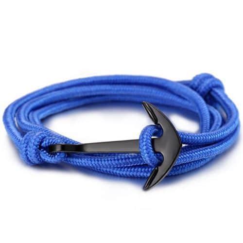 Мужской и женский браслет-веревка с якорем