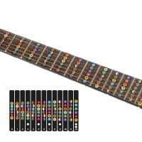 Наклейка с названиями нот на гриф гитары