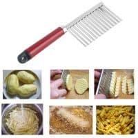 Нож с волнистым лезвием для рифленой нарезки картофеля, овощей, теста
