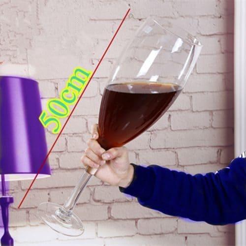 Огромный стеклянный бокал для вина, шампанского, пива