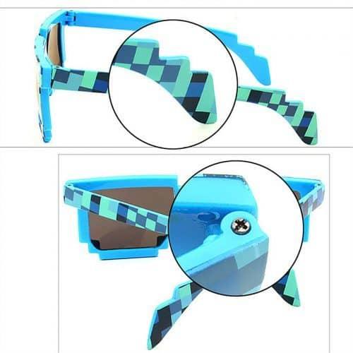 Пиксельные солнцезащитные очки 8 бит в стиле MINECRAFT (Майнкрафт)