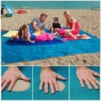 Пляжное покрывало, пропускающее песок