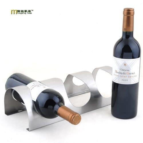 Полка подставка для хранения трёх бутылок вина