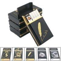 Портсигар-чехол для сигарет со встроенной USB зажигалкой