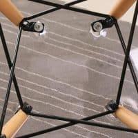 Прозрачные пластиковые обеденные стулья для кухни 2 шт.