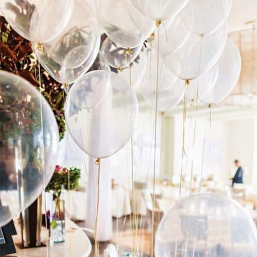 Прозрачные воздушные шары 12 дюймов в наборе 100 шт.