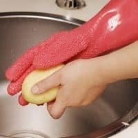 Резиновые перчатки для чистки молодого картофеля и овощей