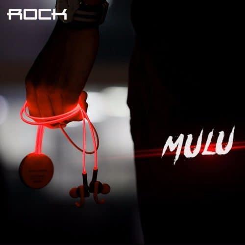 Rock Mulu беспроводные светящиеся bluetooth наушники для занятий спортом