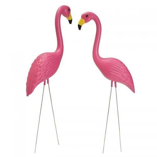 Садовые декоративные фигурки для сада и огорода фламинго