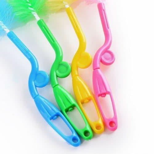 Щетка-ершик с губкой для мытья, чистки детских бутылочек и сосок
