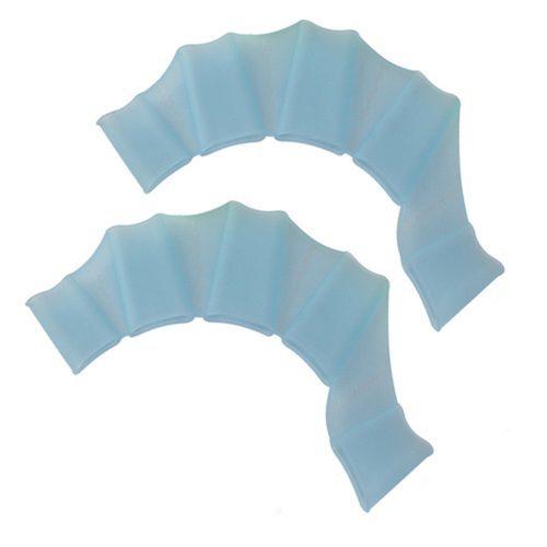 Силиконовые перчатки-ласты с перепонками на руки для плавания