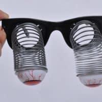 Смешные очки-прикол с висящими глазами на пружинах для праздника