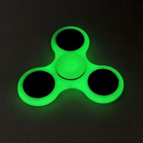 Спиннер hand spinner пальчиковая игрушка-антистресс на подшипнике для рук светящаяся в темноте