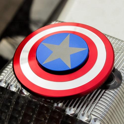 Спиннер ручная игрушка вертушка антистресс Щит капитана Америки