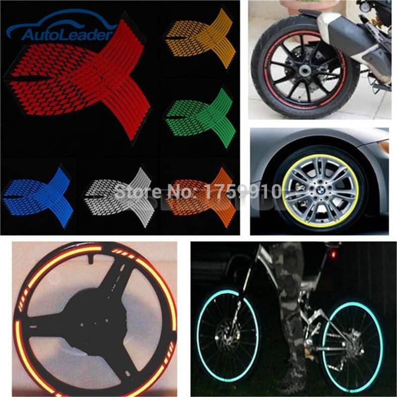 Светоотражающие полоски обода ленты на колеса авто, мото, велосипеда