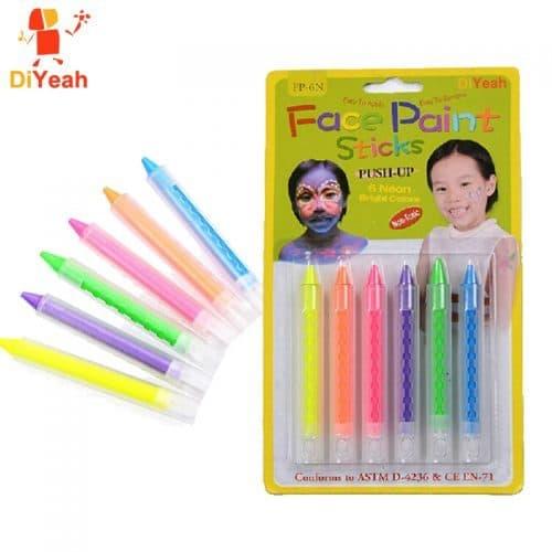 Светящиеся карандаши-краски для неонового бодиарта