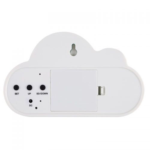 Цифровой светодиодный будильник-часы в виде облака