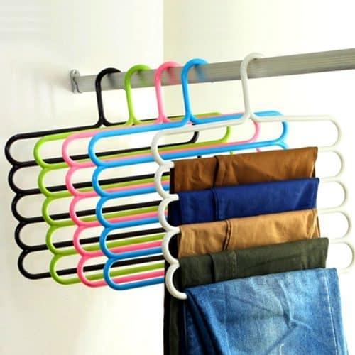 Вешалка-органайзер для брюк в шкаф