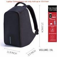 Водонепроницаемый рюкзак Design Bobby (реплика) с USB портом для ноутбука до 15″
