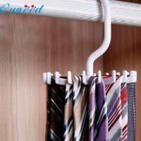Вращающийся органайзер-вешалка для галстуков и ремней в шкаф