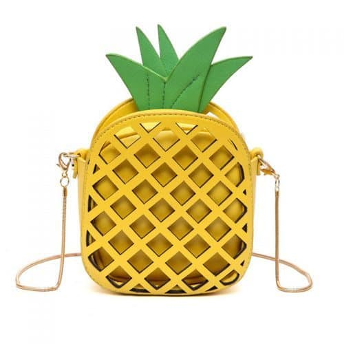 Женская сумка-клатч в виде ананаса на цепочке