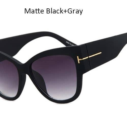Женские солнцезащитные большие фотохромные очки Uv400 с толстой оправой формы кошачий глаз из поликарбоната и пластика