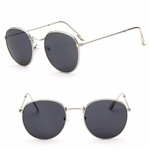 Женские солнцезащитные круглые ретро очки Uv400 из поликарбоната