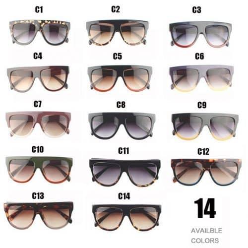 Женские солнцезащитные очки UV400 с прямым верхом из пластика и поликарбоната