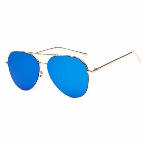 Женские солнцезащитные зеркальные очки авиаторы UV400 из поликарбоната и металла