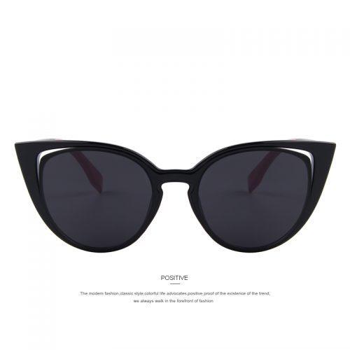 Женские солнцезащитные зеркальные ретро очки формы кошачий глаз из поликарбоната и пластика