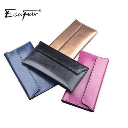 Женский длинный кошелек бумажник из натуральной кожи 19 см