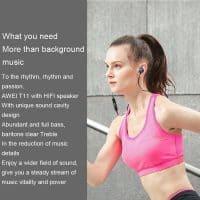 Awei T11 Вакуумные спортивные беспроводные качественные Bluetooth наушники-вкладыши-гарнитура с микрофоном