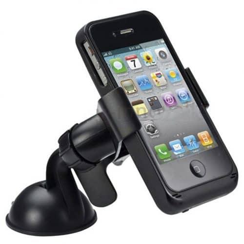 Держатель для телефона на присоске с прищепкой в машину на лобовое стекло