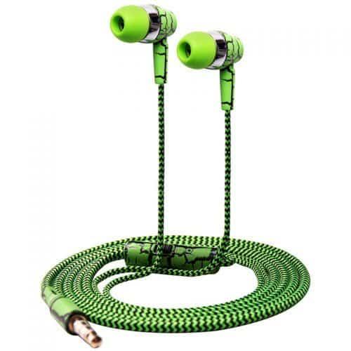 Glylezee Вакуумные качественные стерео наушники-гарнитура 3,5 мм с микрофоном с плетеным проводом