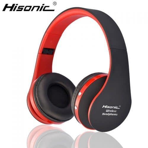Hisonic Беспроводные накладные качественные стильные складные Bluetooth стерео наушники-гарнитура