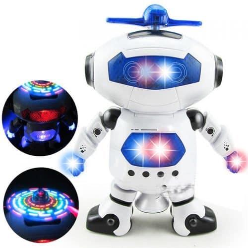 Игрушка электронный светящийся музыкальный робот, танцующий под музыку