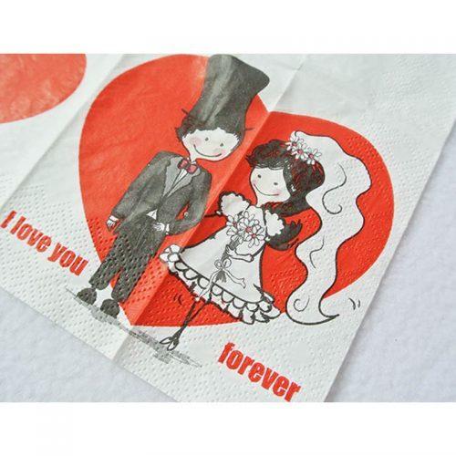 Красивые бумажные салфетки на стол на свадьбу