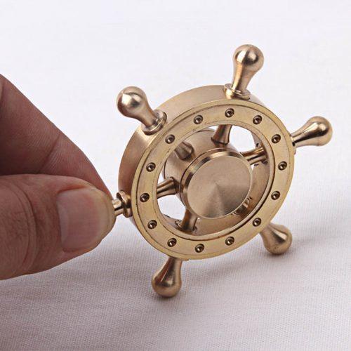 Круглый спиннер в виде штурвала hand spinner пальчиковая игрушка-антистресс на подшипнике для рук